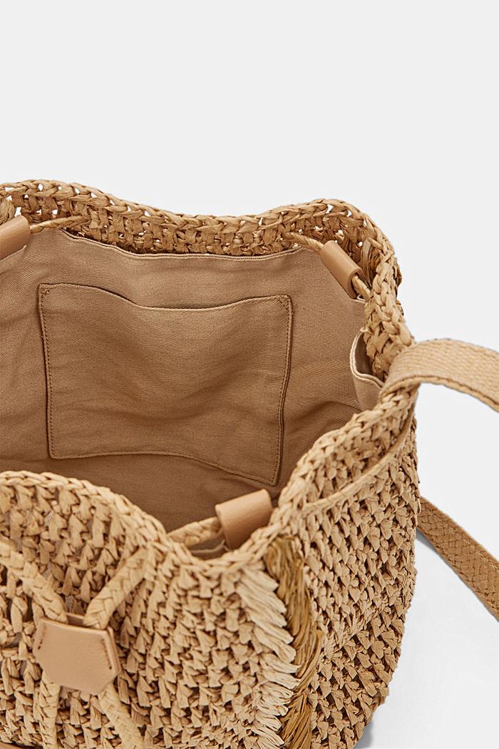 Bucket bag made of FSC™-certified bast, CAMEL, detail image number 4
