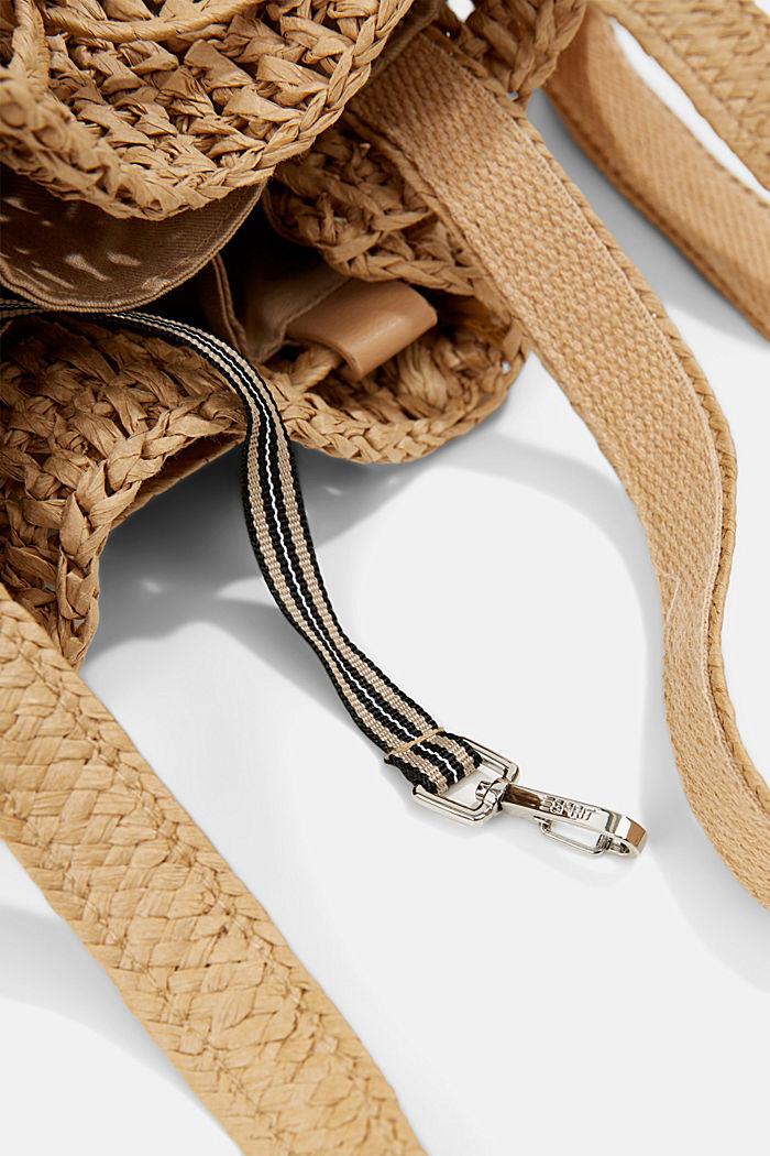 Bucket bag made of FSC™-certified bast, CAMEL, detail image number 3