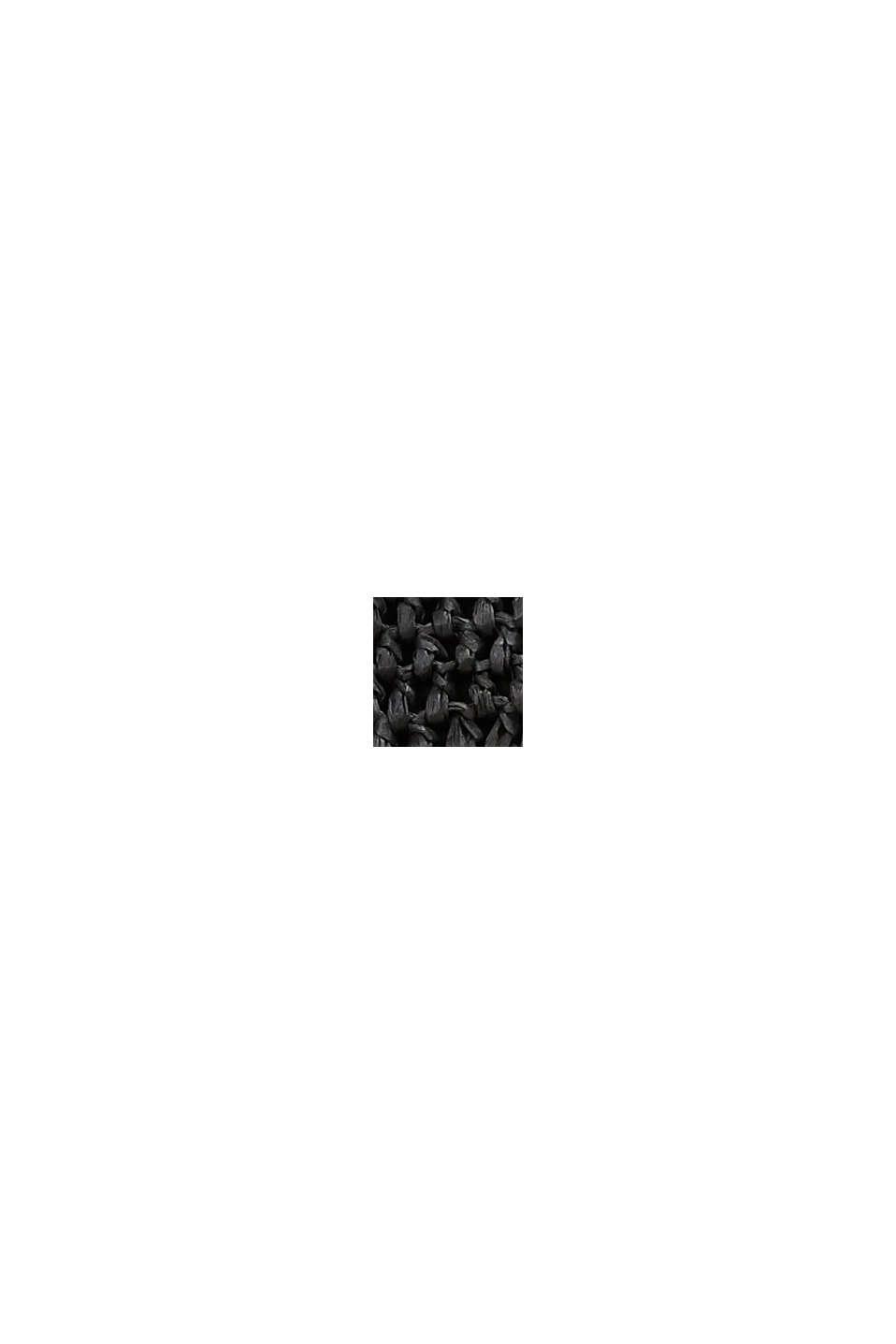 Nákupní kabelka z lýka s certifikátem FSC™, BLACK, swatch