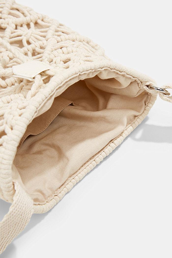 Met de hand gemaakt: bucket bag van macramé, OFF WHITE, detail image number 4