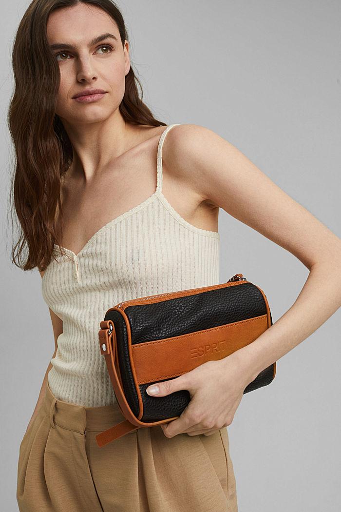Vegan: le sac bandoulière bicolore