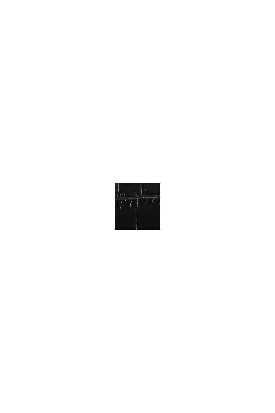 Sac porté épaule en toile et similicuir, BLACK, swatch