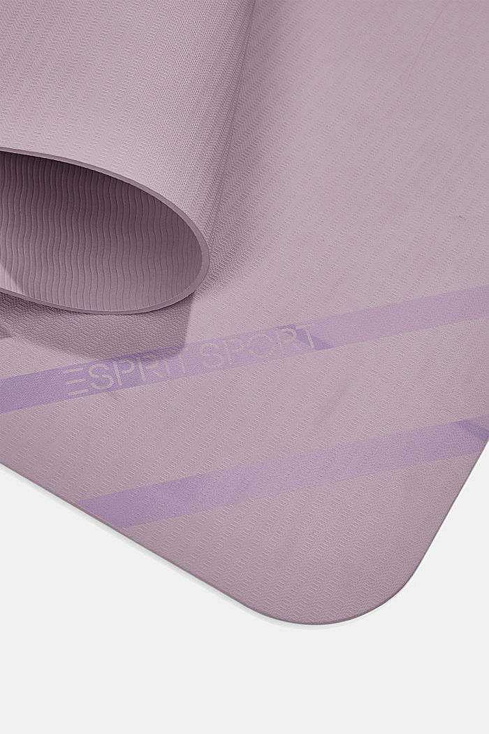 YOGA: non-slip yoga mat with band, DARK LAVENDER, detail image number 4