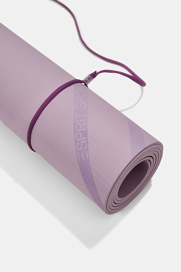YOGA: non-slip yoga mat with band, DARK LAVENDER, detail image number 3