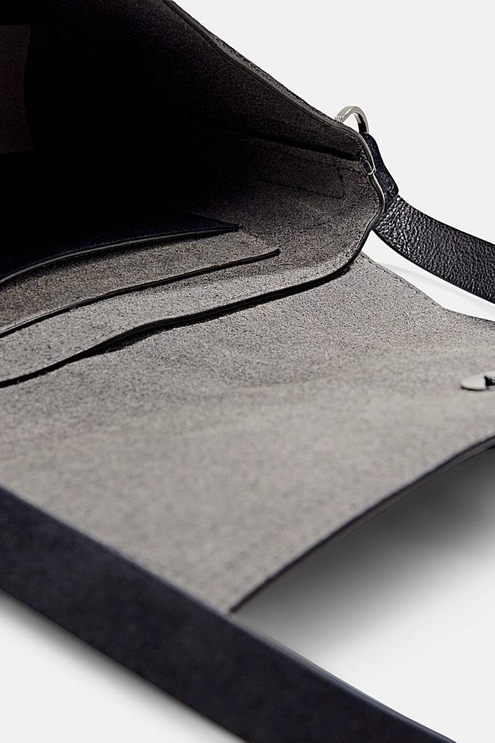 Bolso de bandolera en ante, BLACK, detail image number 4