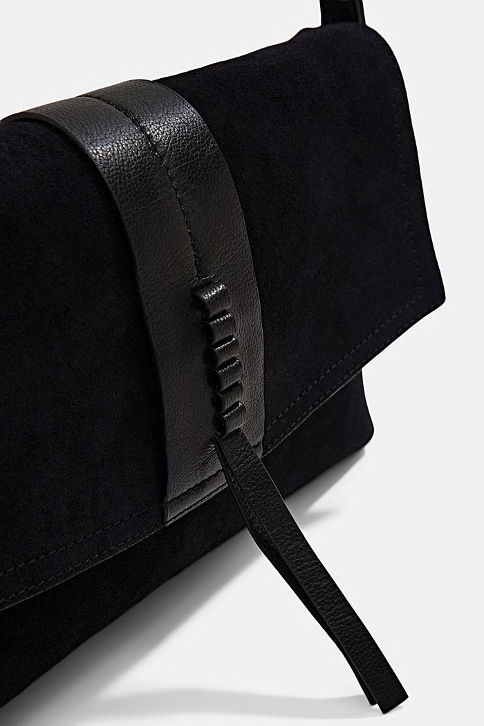 Bolso de bandolera en ante, BLACK, detail image number 3
