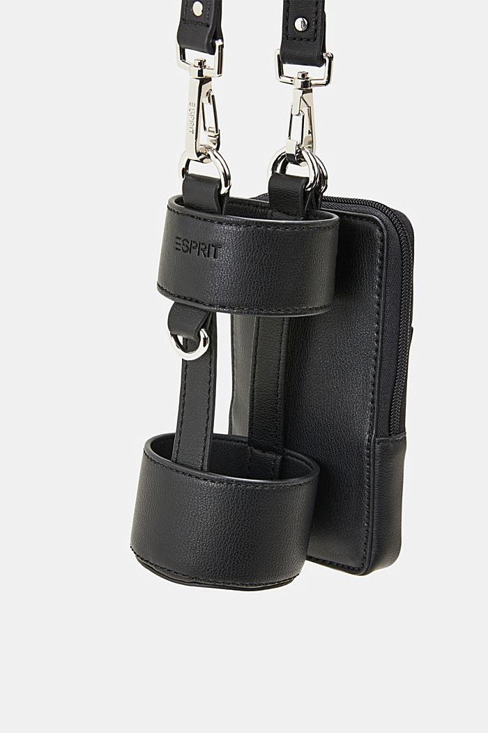 Vegan: Smartphone-Tasche mit Flaschenhalterung, BLACK, detail image number 4