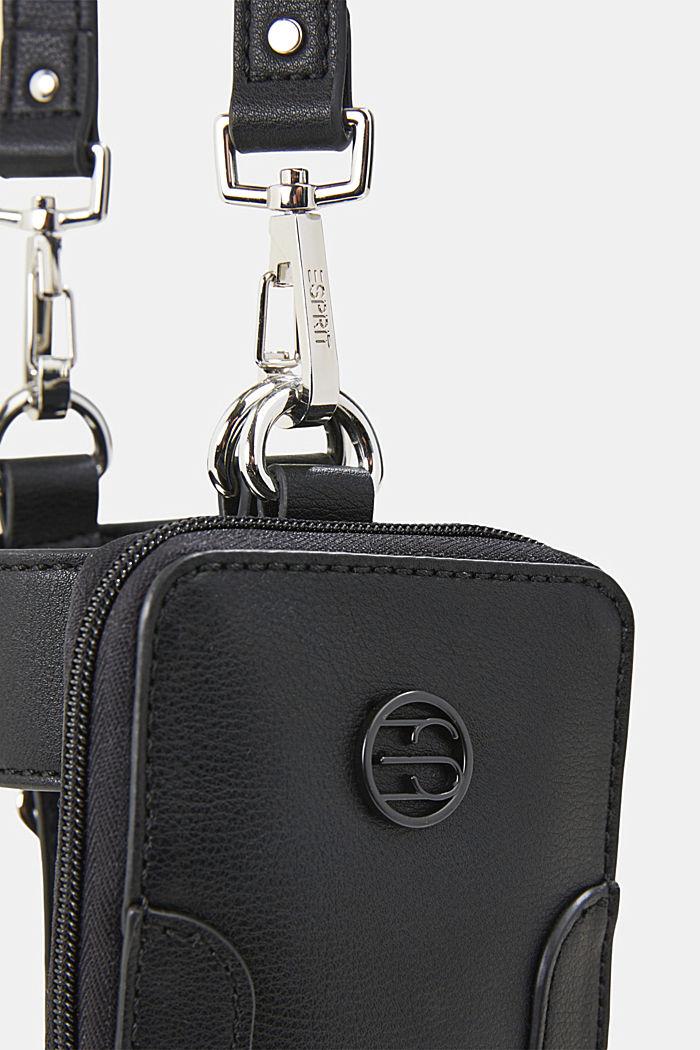 Vegan: Smartphone-Tasche mit Flaschenhalterung, BLACK, detail image number 2