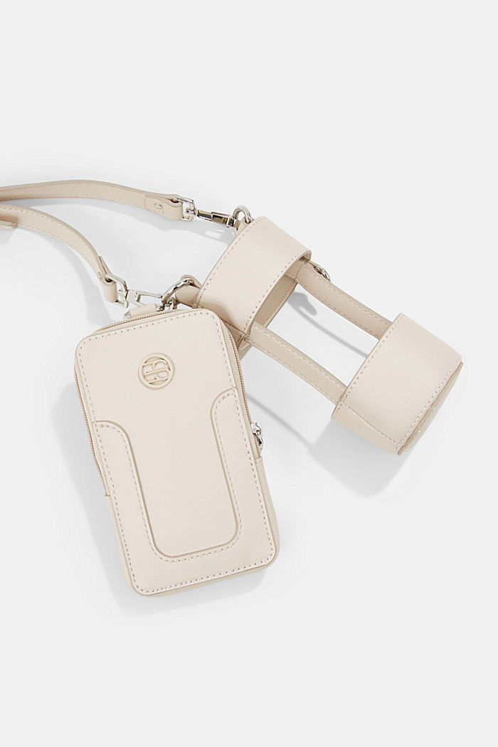 Vegan: Smartphone-Tasche mit Flaschenhalterung