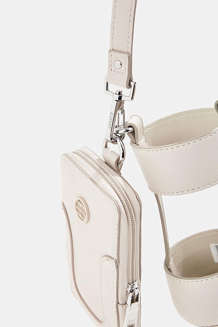 Veganistisch: smartphonetasje met fleshouder, LIGHT BEIGE, detail image number 2
