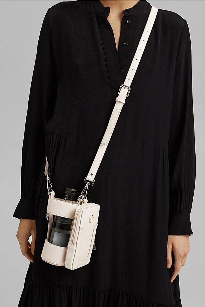 Végane: sac pour smartphone doté d'un porte-bouteille