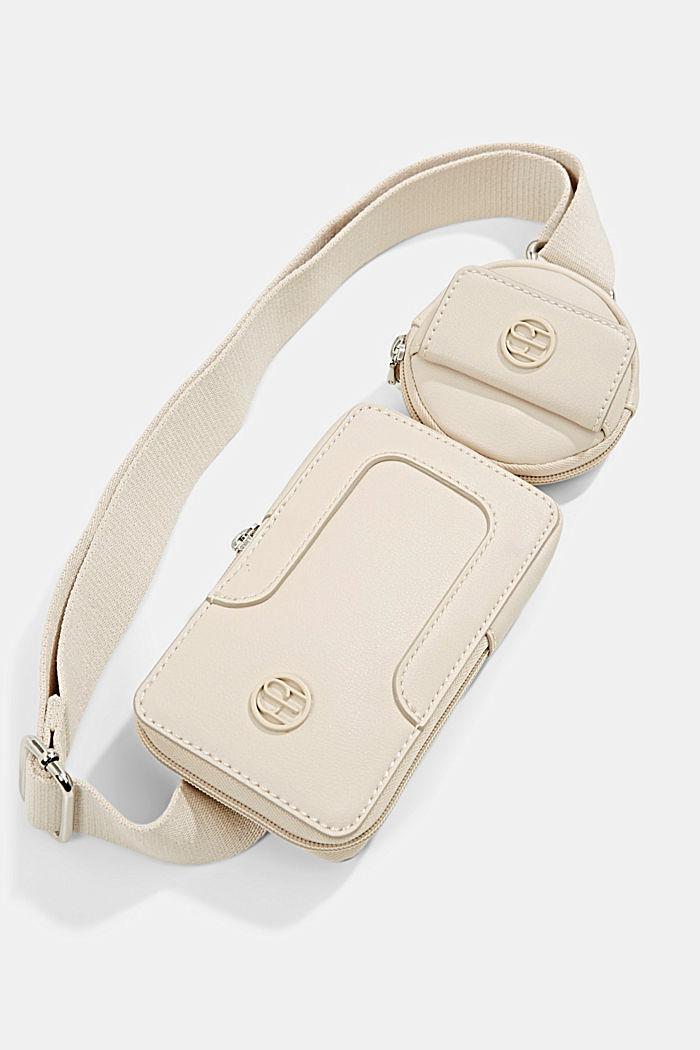 Wegańska: torebka na smartfon z kieszenią na monety, LIGHT BEIGE, detail image number 0