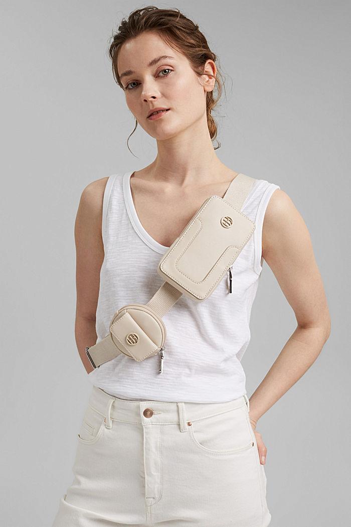 Végane: sac pour smartphone doté d'une poche-ticket