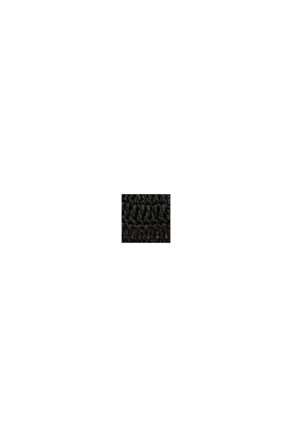 Chapeau en raphia certifié FSC™, BLACK, swatch