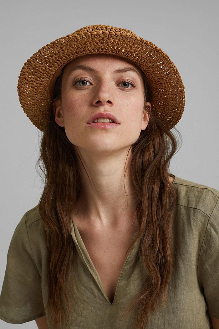 Hat made of FSC™ certified bast, CAMEL, detail image number 2