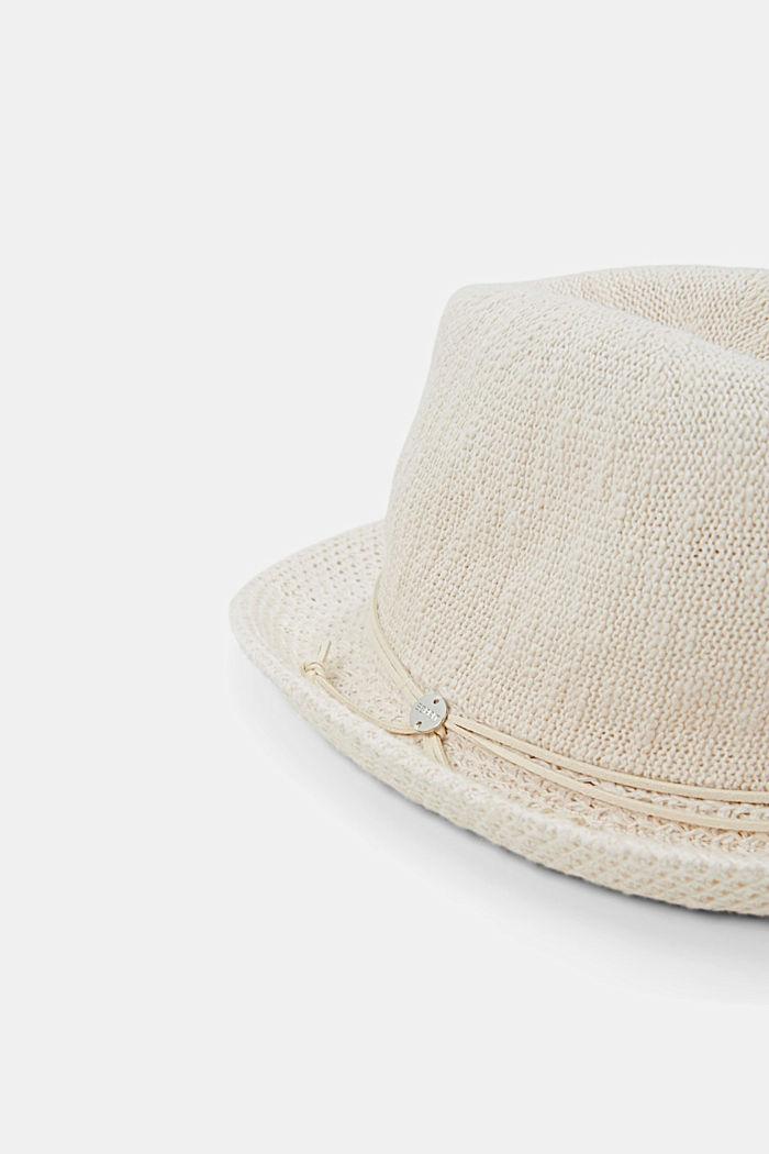 Sombrero Trilby de punto, CREAM BEIGE, detail image number 1