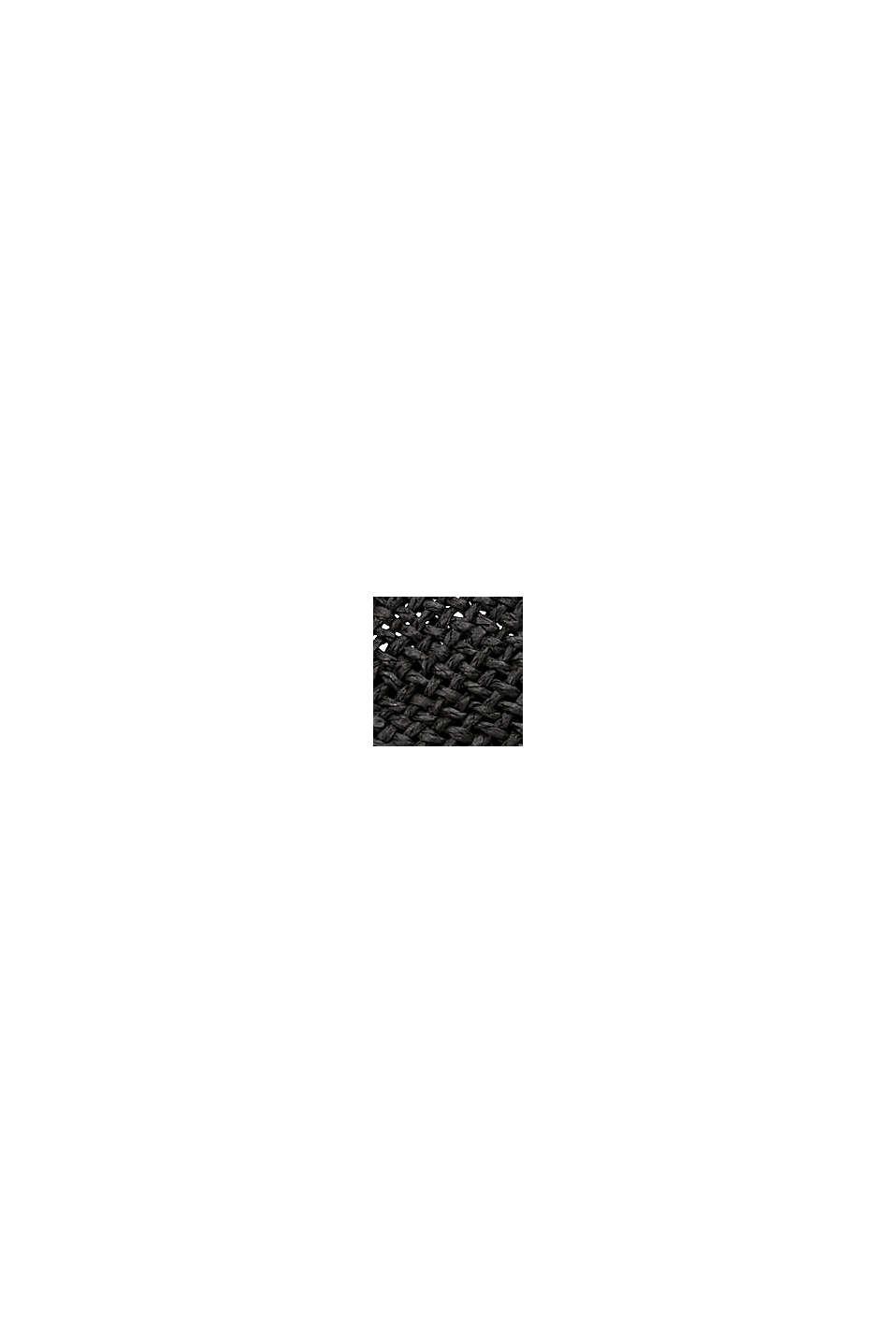 Klobouk trilby ze slámy s certifikací FSC™, BLACK, swatch