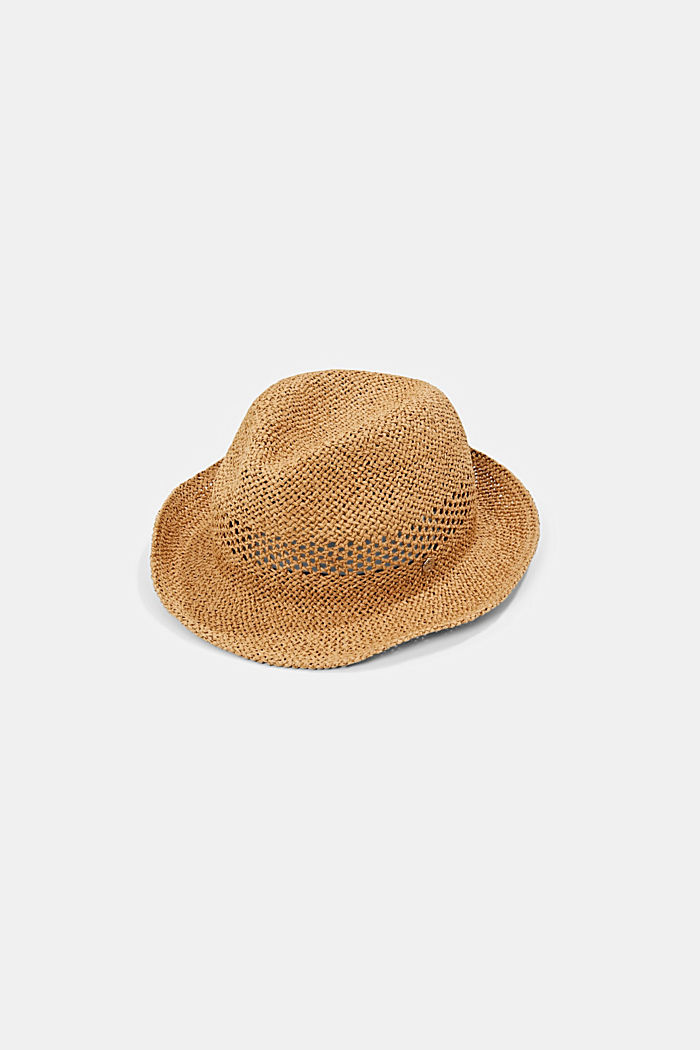 Trilby made of FSC™ certified straw, CAMEL, detail image number 0