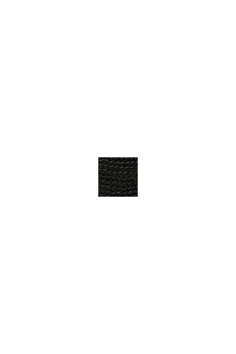 Chapeau de paille en raphia, BLACK, swatch