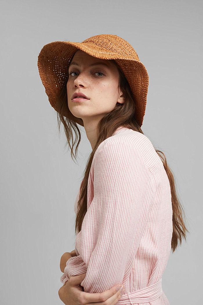 Raffia straw hat
