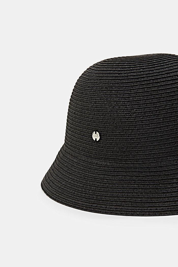 Bucket Hat aus FSC™ zertifiziertem Bast, BLACK, detail image number 1