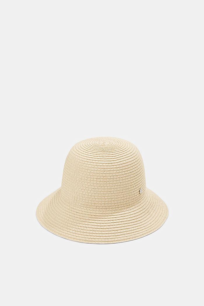 Sombrero de pescador realizado en rafia con certificación FSC™, CREAM BEIGE, detail image number 0
