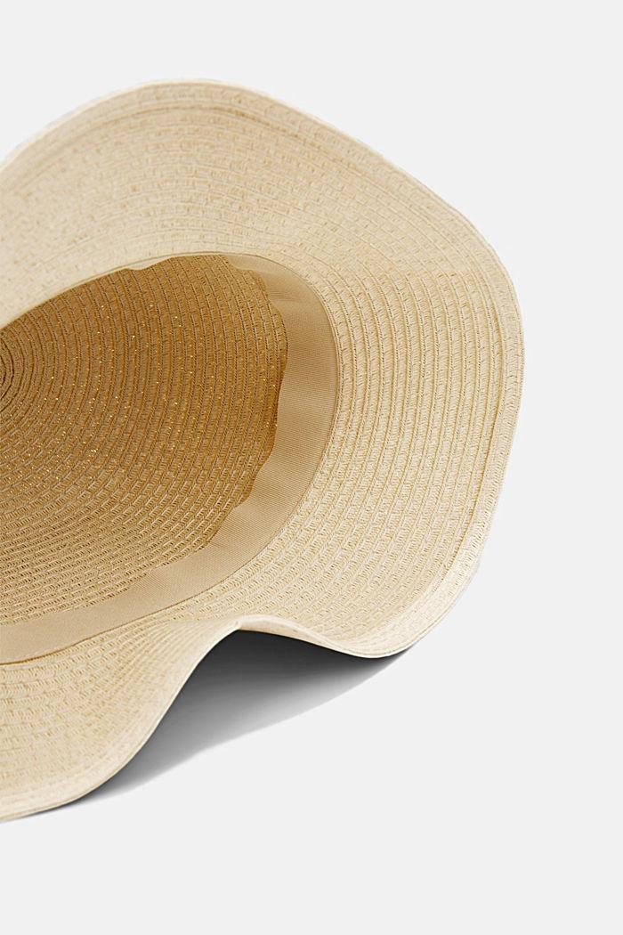 Sombrero de pescador realizado en rafia con certificación FSC™, CREAM BEIGE, detail image number 3