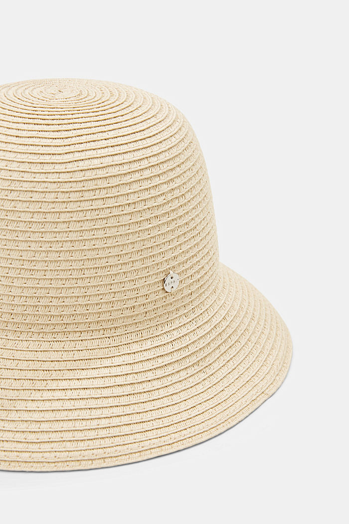 Sombrero de pescador realizado en rafia con certificación FSC™, CREAM BEIGE, detail image number 1