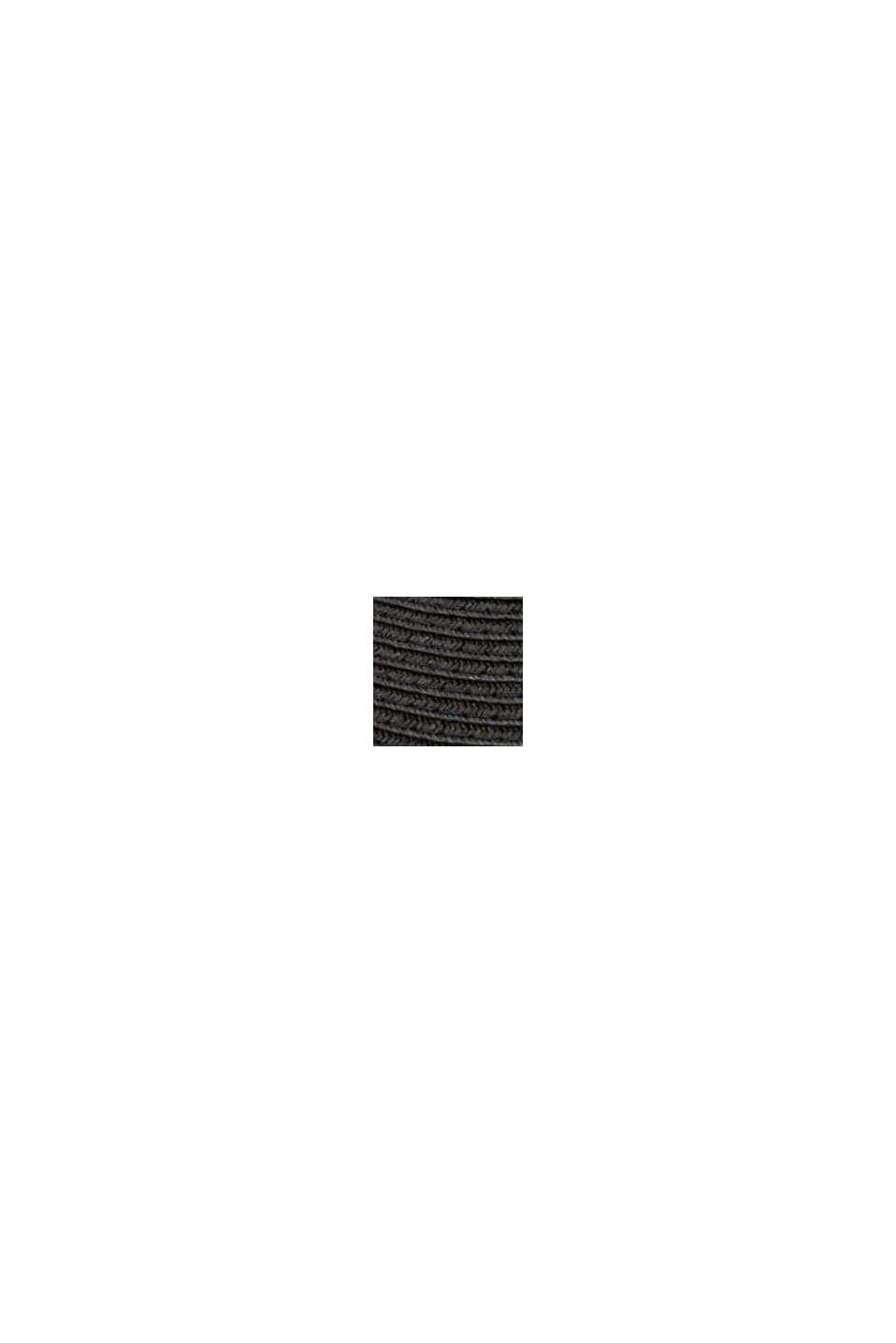 Visor Cap aus FSC™ zertifiziertem Bast, BLACK, swatch