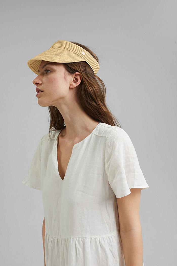Visor hat made of FSC™ certified bast