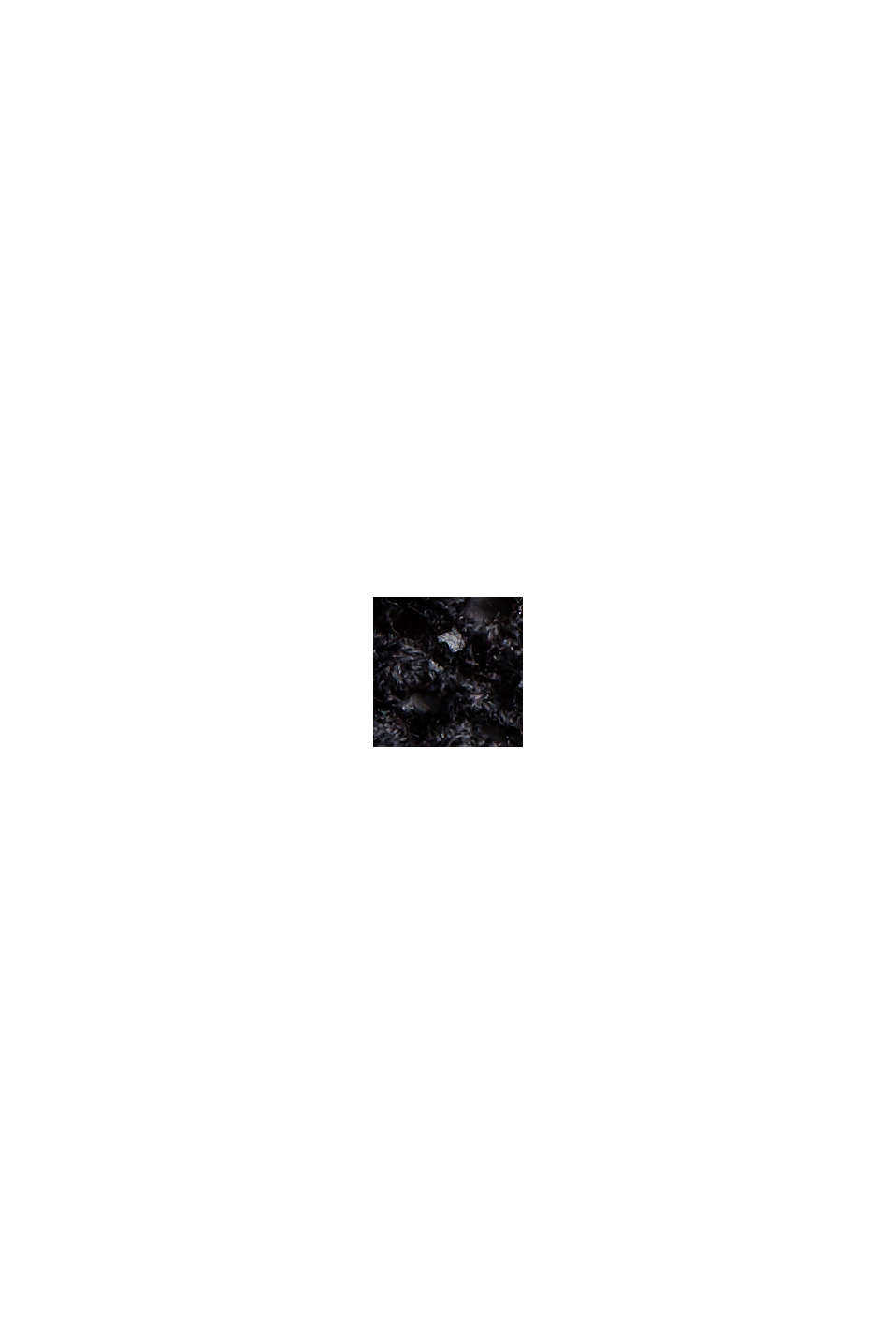 Poncho en dentelle crochetée, BLACK, swatch