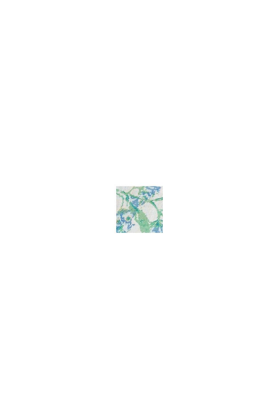 Recycelt: Loop-Schal mit Blumen-Print, OFF WHITE, swatch