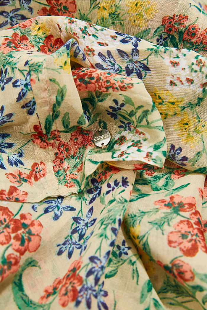 Recycled: snood scarf with a floral print, SAND, detail image number 2