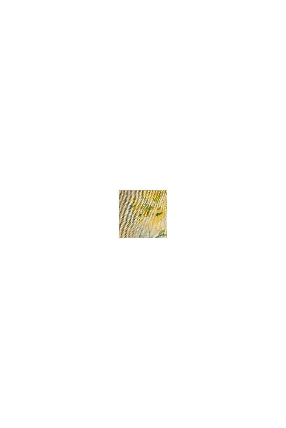 Recycelt: Loop-Schal mit Blumen-Print, SAND, swatch