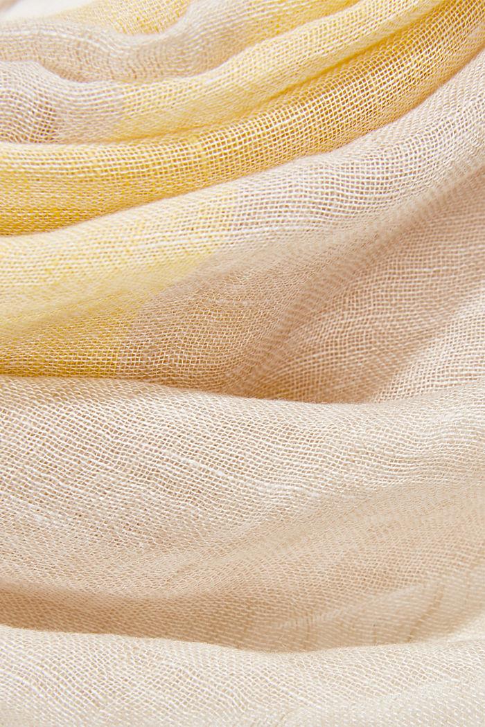 #ReimagineNaturalLifestyle: linen scarf, SAND, detail image number 2