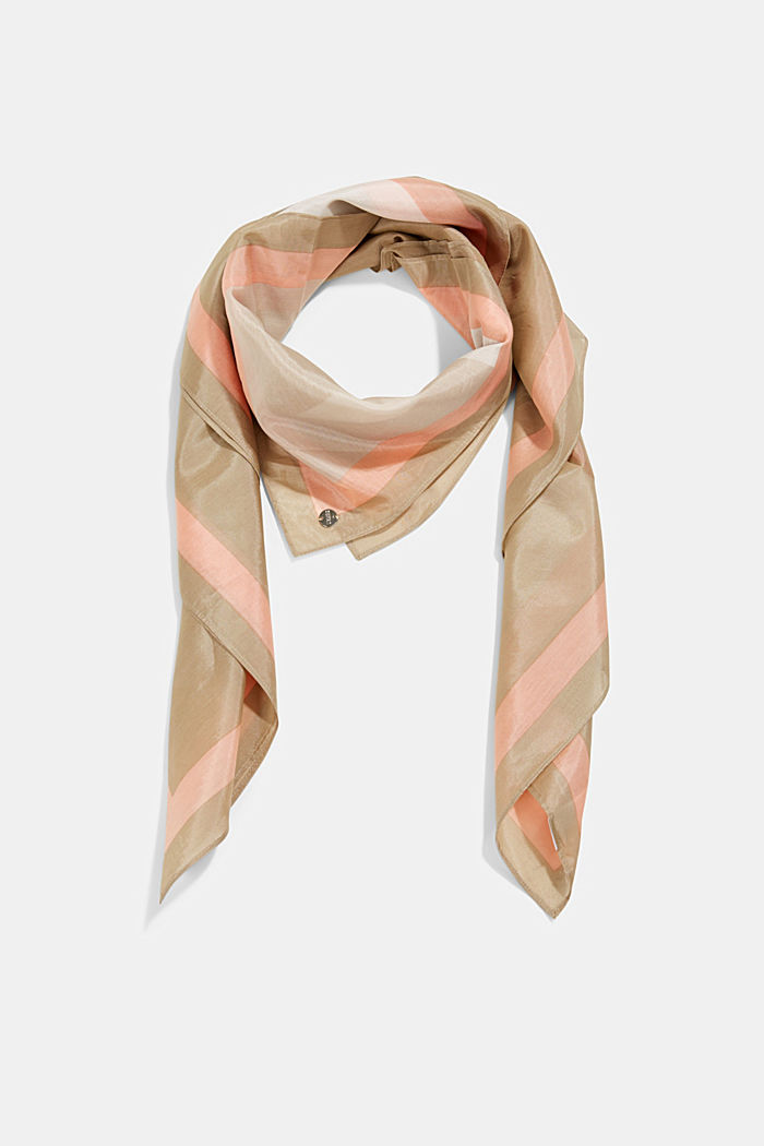 Silk blend: square scarf with print