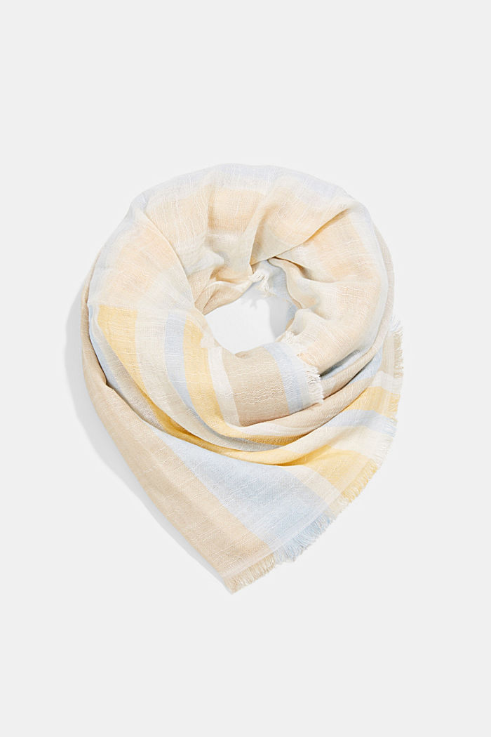 Striped scarf made of organic cotton