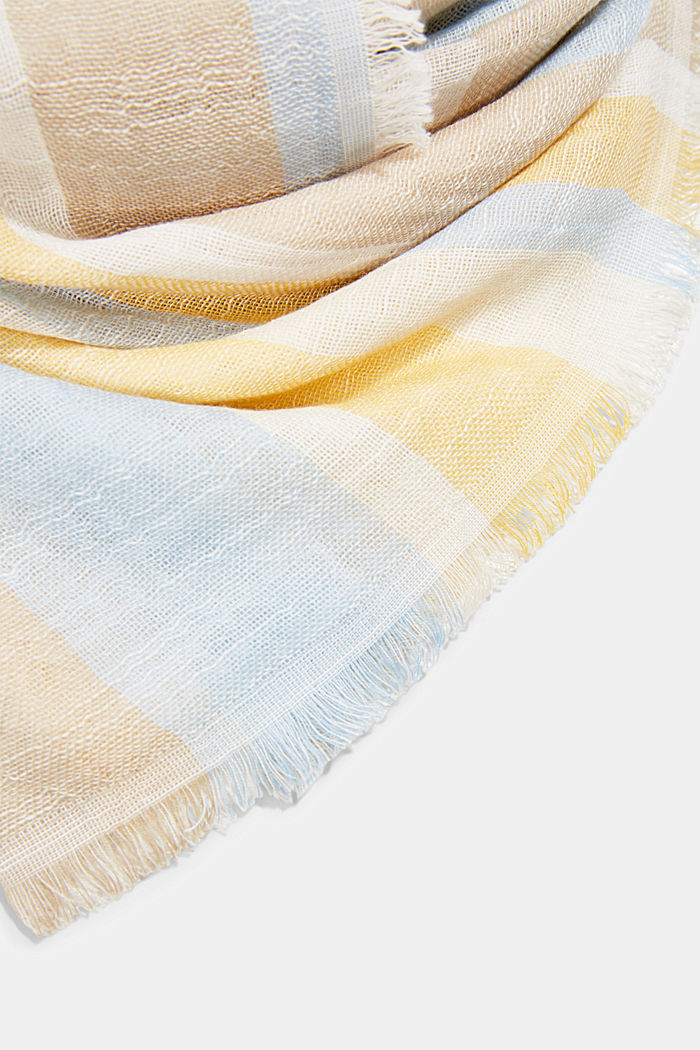 Striped scarf made of organic cotton, OFF WHITE, detail image number 2