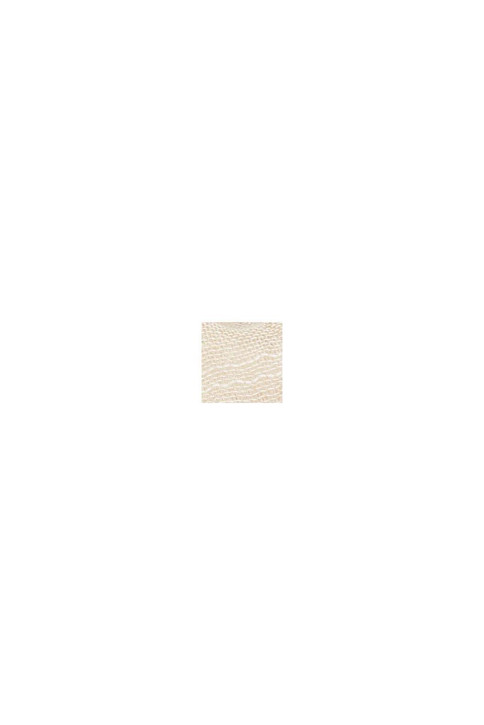 Foulard rayé en coton biologique, OFF WHITE, swatch