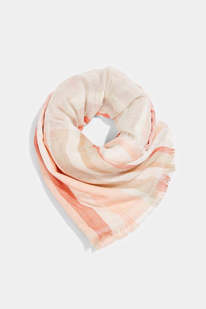 Tuch mit Streifen aus Organic Cotton, SAND, detail image number 0