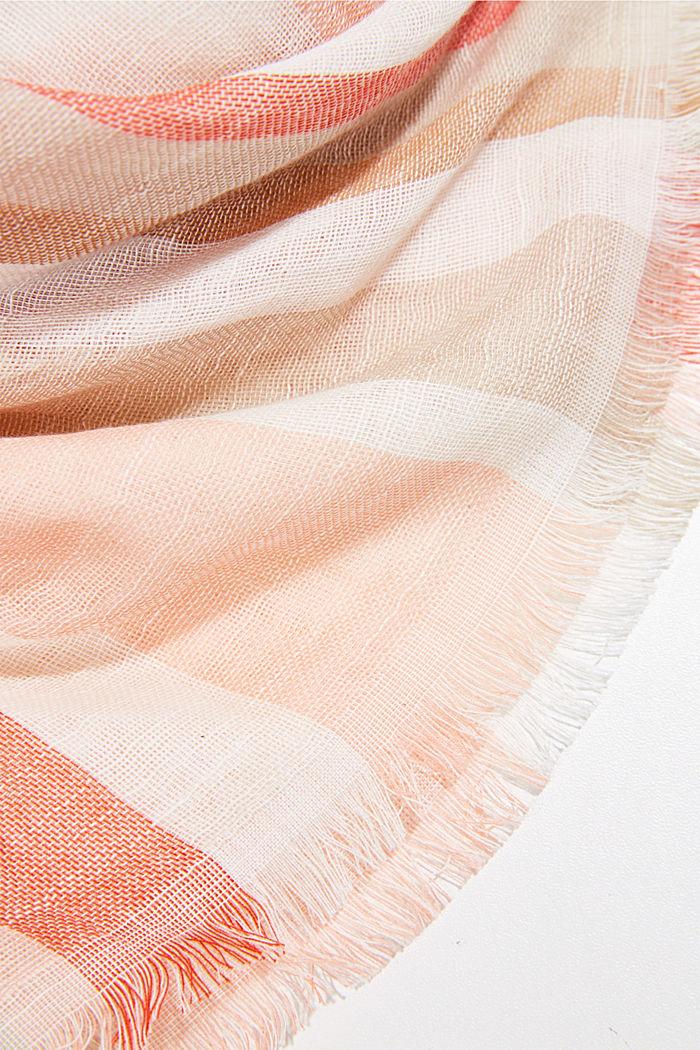 Tuch mit Streifen aus Organic Cotton, SAND, detail image number 2