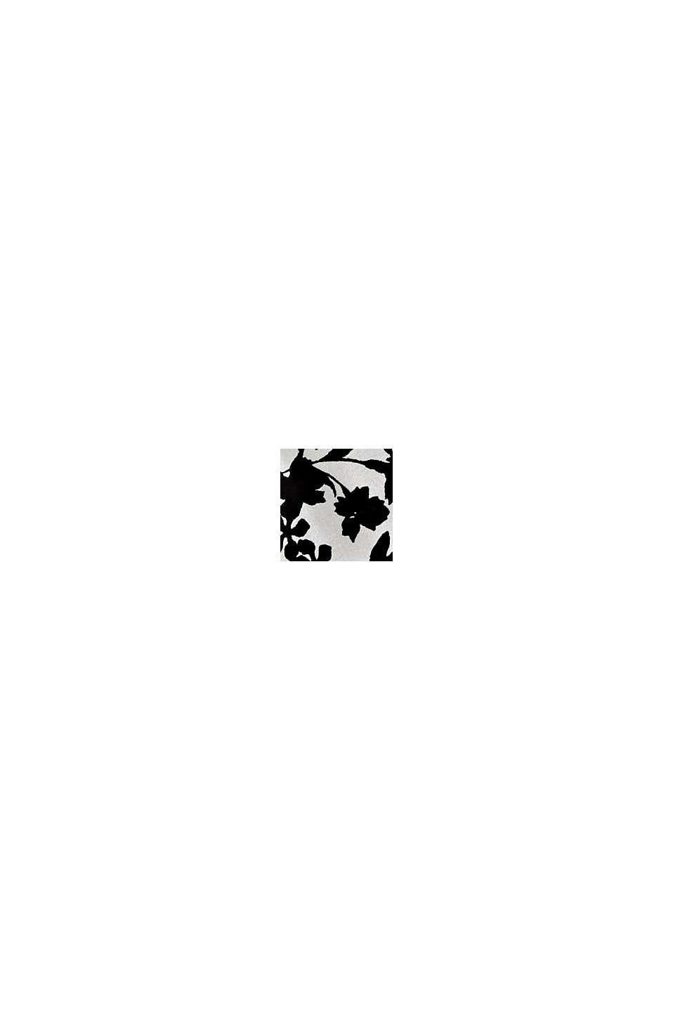 100% soie: le foulard à motif floral, BLACK, swatch