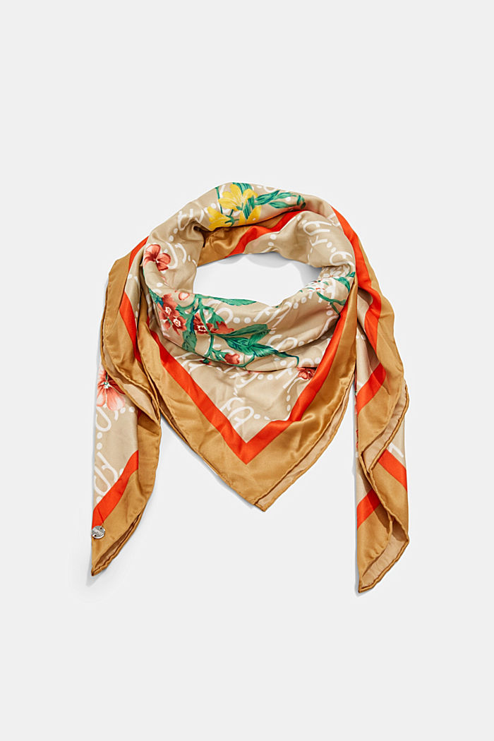 Recycled: Scarf with a satin finish, SAND, detail image number 0