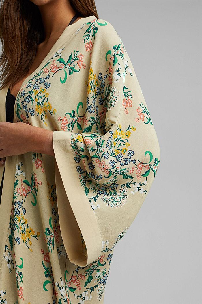 Long kimono with LENZING™ ECOVERO™, SAND, detail image number 2