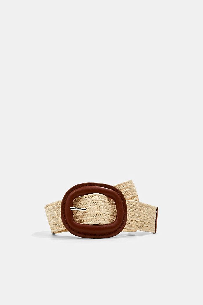 Elastischer Webgürtel mit Lederschnalle
