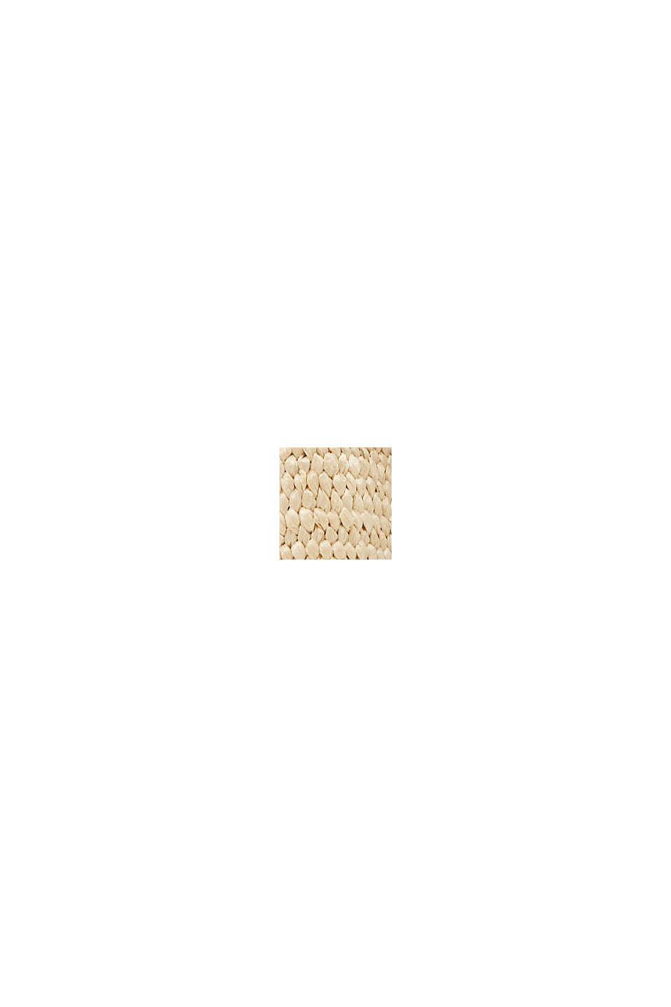 Elastischer Webgürtel mit Lederschnalle, CREAM BEIGE, swatch