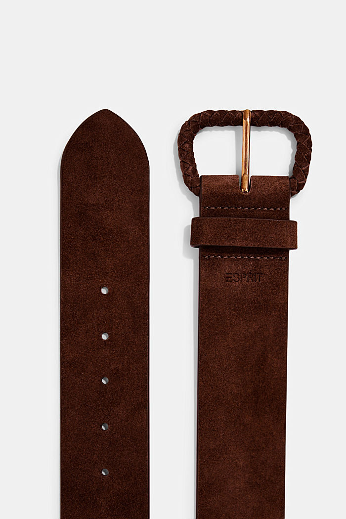Wide suede belt, chrome-free tanned, RUST BROWN, detail image number 1