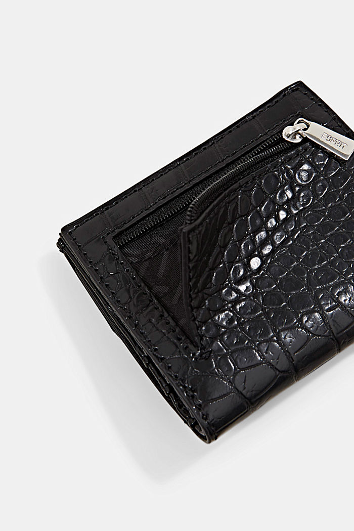 Small monogram wallet made of faux leather, BLACK, detail image number 2