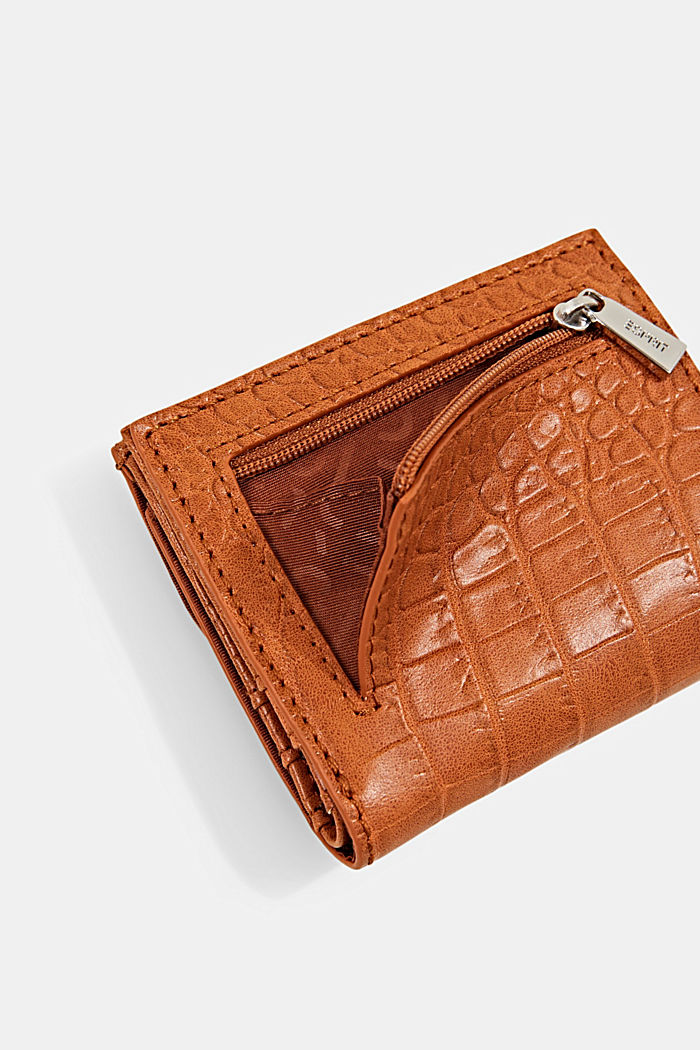 Small monogram wallet made of faux leather, CARAMEL, detail image number 2