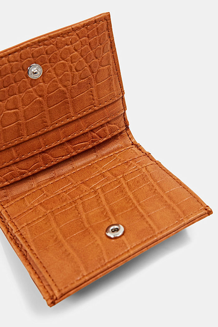 Small monogram wallet made of faux leather, CARAMEL, detail image number 3